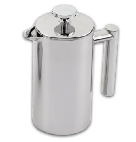 Grunwerg Cafe Ole Double Wall Insulated 6 Cup/25oz Stainless Steel French Coffee Press (25 Oz French Press compare prices)