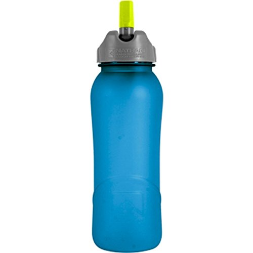 Nathan Hydration 2014 Tritan Flip Straw Water Bottle - 700Ml - 4023 (Frosted Electric Blue Yellow)