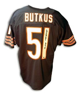 Dick Butkus Signed Chicago Bears Throwback Blue Jersey - HOF 79