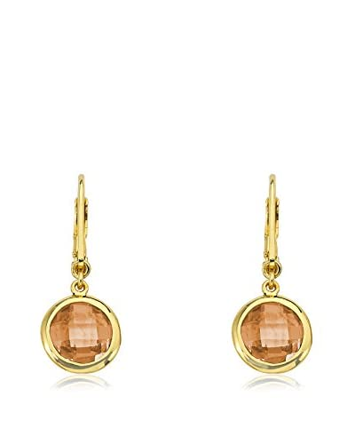 Riccova ER3869B-CH-GP Arctic Mist 14K Gold Plated Small Champagne Circle Off Leverback Earring