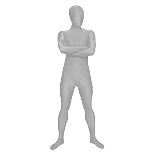 Muka Lycra Zentai Supersuit Halloween Costume 2nd Skin Full BodySuit Dancewear SILVER-S (Batman 2nd Skin Costume)
