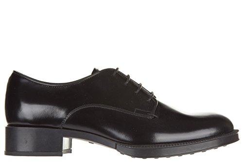Tod's scarpe stringate classiche donna in pelle nuove gomma derby nero EU 36 XXW0WV0M8209DDB999
