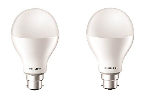17W B22 2000L LED Bulb (Cool Day Light, Pack of 2)