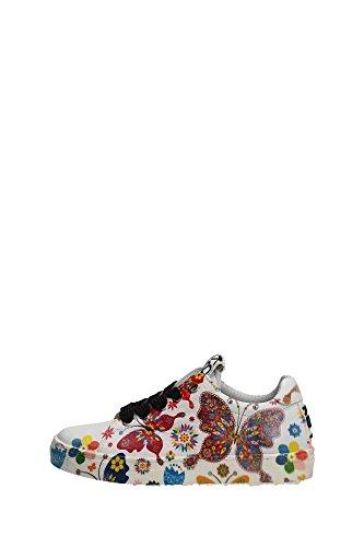 Kool 150.32 Sneakers Bambina Pelle Bianco Bianco 33