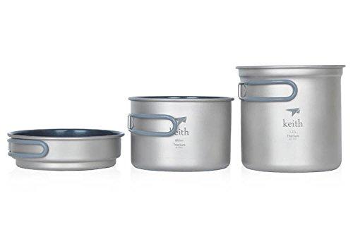 Titanium Fry Pan Titanium Pot Camping Cookware Titanium Cookware 288G