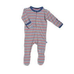 Kicky Pants Bamboo Boy Winter Stripe Footie Pajamas