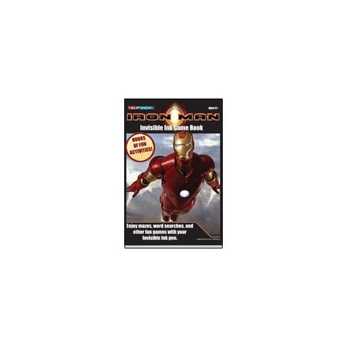 Marvel Iron Man Invisible Ink Game Book by Lee Publications