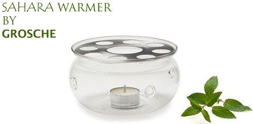 SAHARA Teapot Warmer by GROSCHE; Heat proof High Quality Glass