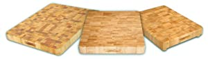 Catskill Craftsmen 17-Inch End Grain Chopping Block with Feet