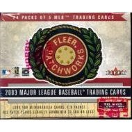 2003 Fleer Patchworks Baseball Card Unopened Hobby Box