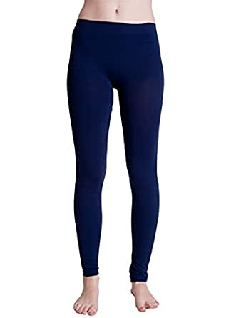 Navy Blue Ladies Ankle Leggings, Made in USA