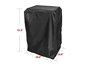 Practical 40-Inch Height Masterbuilt Cover Electric Smoker Cover Protector, Black by L.F.Z