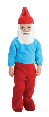 Rubie's Costume The Smurfs 2 Papa Smurf Romper and Headpiece, Red/Blue, Newborn