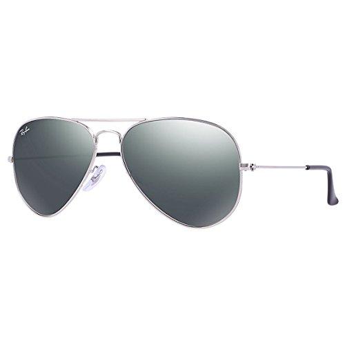 Ray-Ban RB3025 Occhiali da sole Aviator Mirror, Uomo, Argento specchiatta (Silber), M