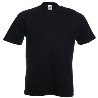 FOTL - Mens T-Shirt Super Premium Plain Black Size Small S