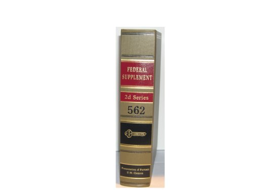 Federal Supplement Second Series