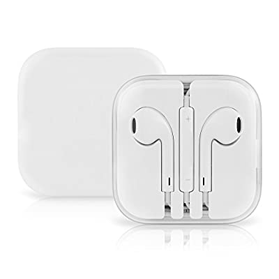 Apple OEM iPhone 6/6 Plus/5C/5S/5 Earphones with Overtime Headphone Case - Non-Retail Packaging - White
