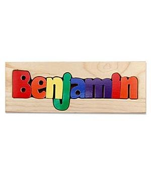 Picture of Personal Creations Personalized Name Board Puzzle - Primary Colors - 1-6 Letters (B0051GYQZS) (Pegged Puzzles)