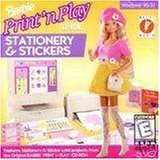 Barbie Print N Play Stationery & Stickers - 1