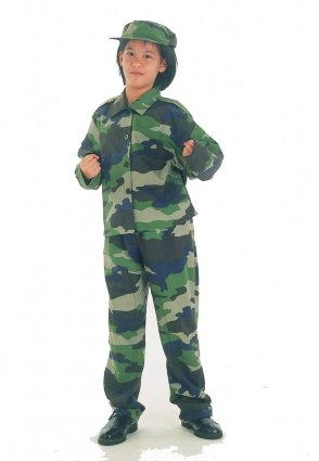 Imagen 1 de Childrens Army Soldier Fancy Dress Costume - Large size (disfraz)