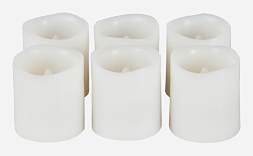 Battery Operated Candles. Set Of 6 Unscented Small Flameless Candles, Plus 6 Extra Batteries Included. Great Indoor And Outdoor. Led Candles, Flameless Candle Set, Votive Candles, Decorations, Wedding Favors, Souvenirs, Centerpieces, Restaurant Table (6)