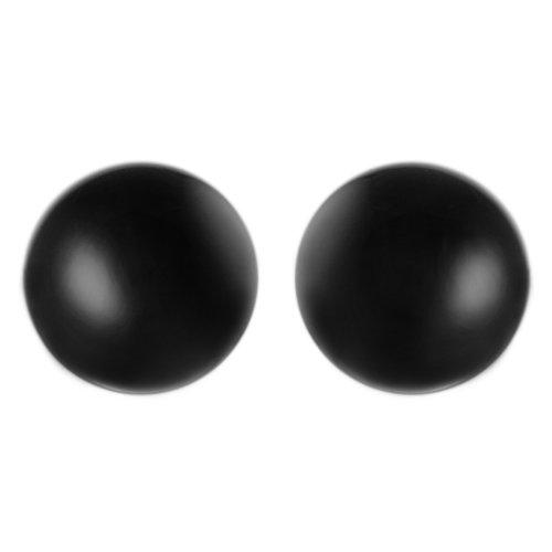 Sterling Silver Black Ball Earrings