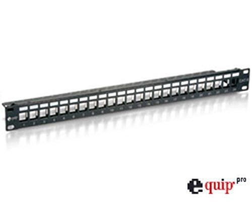 Equip - Panneau de brassage - 24 ports C6 pour fiches Keystone - Noir (Import Allemagne)