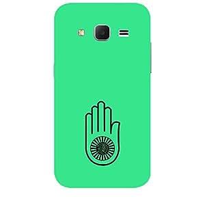 "Skin4gadgets Jainism Symbol ""AHIMSA"" on English Pastel Color-Turquiose Green Phone Skin for SAMSUNG GALAXY CORE PRIME ( G3608)"