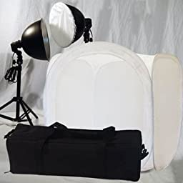Deluxe Studio Lights with Photo Tent Kit With Case