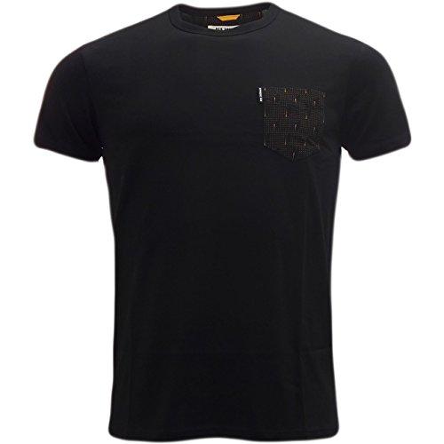 Ben Sherman -  T-shirt - Basic - Maniche corte - Uomo nero XL