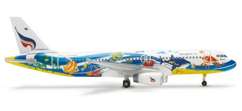 Herpa Wings Bangkok A320 Samui Model Airplane