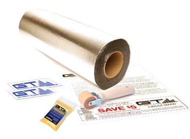 "Gtmat 50 Sqft Automotive Sound Deadener 80Mil Ultra - Noise Killer Installation Kit Includes: 50Ft Roll (18"" X 33'), Instruction Sheet, Application Roller, Degreaser, Gt Mat Decals"