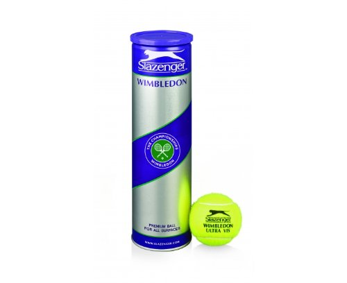 SLAZENGER Wimbledon Ultra Vis Tennis Balls (with Hydroguard) (1 Dozen as 4 Ball Cans)