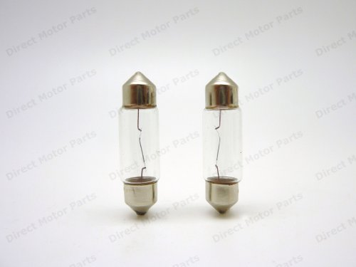 Number Plate Licence Plate Interior Clear Halogen Festoon bulbs 239 C5W SV8 36mm that will Fit Audi A4 Saloon HID 2006