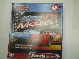 Disney Pixar Cars 48-Piece Jigsaw Puzzle (King Vs McQueen) - 1