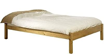Super Kingsize Pine Bed 6ft Studio Kingsize Bed Wooden Frame with extra wide base slats and centre rail - VERY STRONG