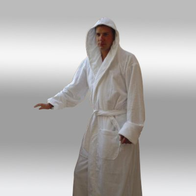 Hooded Terry Bathrobe. 9 Colors Available. Full Length 51 Inches