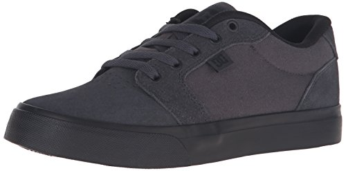 DC Men's Anvil Skate Shoe, Charcoal/Black, 12 M US