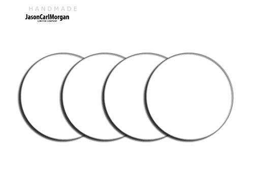 Telecommande JCM Jante en alliage Bouchon Badges pour SAAB FORD BMW (CLR 60 mm, Blanc