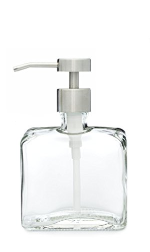 Urban Square Recycled Glass Soap Dispenser with Metal Pump (Fuente) (Square Glass Soap Dispenser compare prices)