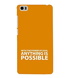 EPICCASE anything is possible Mobile Back Case Cover For Xiaomi Mi5 (Designer Case)