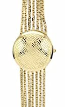 ANNE KLEIN GOLD TONE MIRROR LADIES WATCH - AK/1040CHCV
