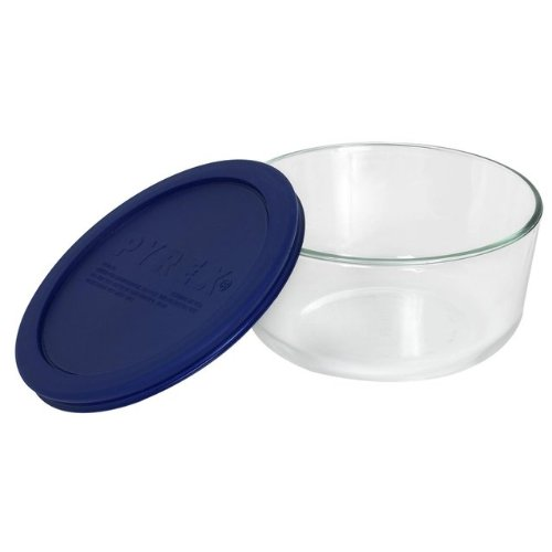 Pyrex 4 Cup Storage Plus Round Dish With Plastic Cover Sold In Packs Of 4
