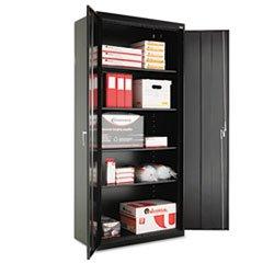 "** Assembled 78"" High Storage Cabinet, w/ Adjustable Shelves, 36w x 18d, Black **"