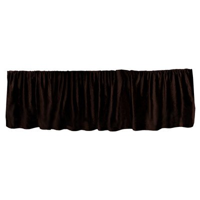 "Go Mama Go Luxurious Dust Ruffle, Chocolate Minky/Brown/Premie, 16"" - 1"