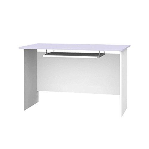 Schreibtisch mit Tastaturablage Kinderschreibtisch BUMBLEE BEE 120x70x75cm helllila weiß B-120