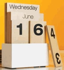 wooden perpetual calendar- recycle every year