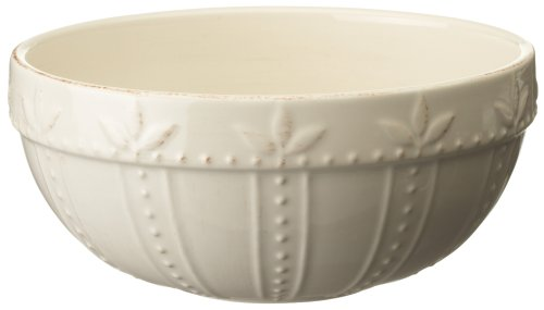 Signature Housewares Sorrento Collection 60-Ounce Small Mixing Bowl, Ivory Antiqued Finish front-629027
