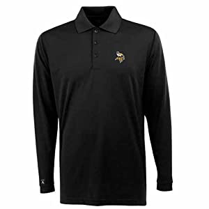 Minnesota Vikings Long Sleeve Polo Shirt (Team Color) by Antigua