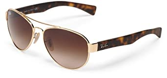 Ray Ban RB3491 Sunglasses-001/13 Gold (Brown Gradient Lens)-56mm